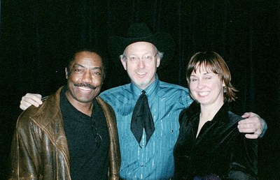 Backstage in Vegas with friends actors James Reynolds and Lissa Laang